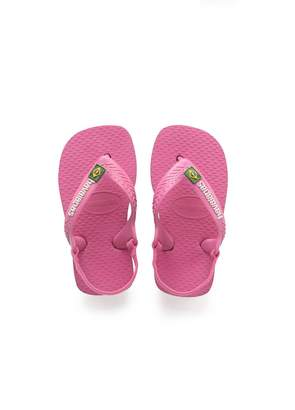 Havaianas Toddlers Pink Brasil Logo II Flip Flops-UK 5 Infant