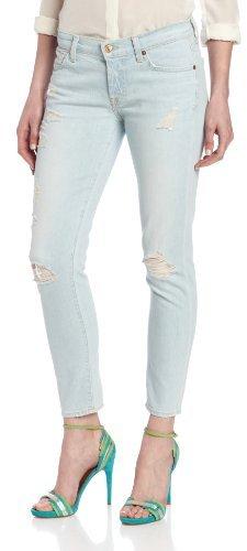7 For All Mankind Women's Josefina Skinny Jean in Distressed Light