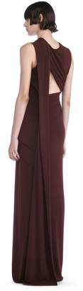 Alexander Wang Asymmetric Draped Gown With Back Cut Out