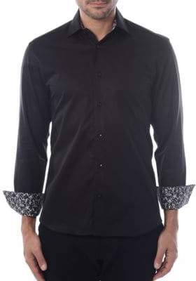 Solid Twill Button-Down Shirt