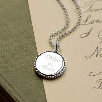 Martha Jackson Sterling Silver Personalized Sterling Silver Round Pendant