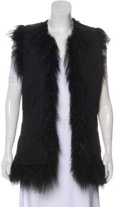 Zadig & Voltaire Shearling Lined Vest
