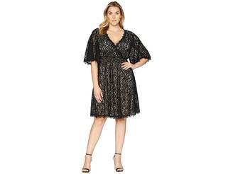 KARI LYN Plus Size Beatrice V-Neck Lace Dress