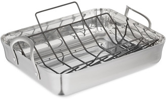 Calphalon Contemporary Stainless Steel 16In Roaster With Rack