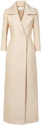 The Row Addy Silk-crepe Coat - Off-white
