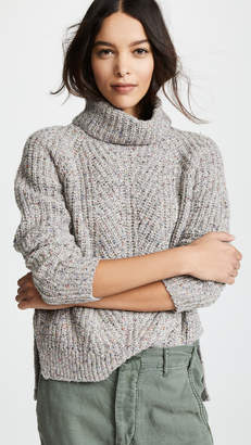Madewell Color Flecked Ribbed Turtleneck Sweater
