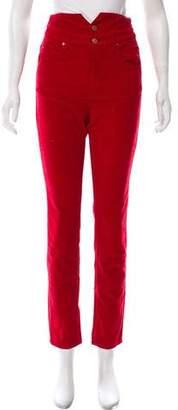 Etoile Isabel Marant Corduroy High-Rise Jeans