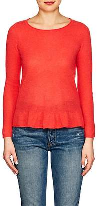 Barneys New York WOMEN'S CASHMERE PEPLUM SWEATER - RED SIZE M