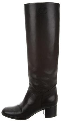 Chanel Knee-High Leather Boots