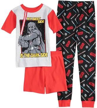 Boys 4-10 Star Wars Dark Side 3-Piece Pajama Set