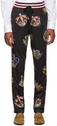 Dolce & Gabbana Multicolor Crown Lounge Pants