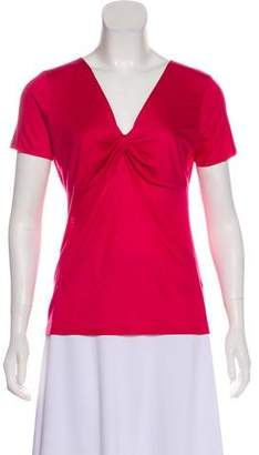 Agnona Short Sleeve V-Neck Top