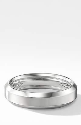 David Yurman 18K Beveled Band Ring