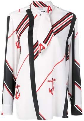 MSGM anchor print blouse