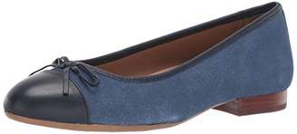 Aerosoles Women's Outrun Ballet Flat - Almond Toe Shaped Comfortable Slip-On with Memory Foam Footbed (7M - )