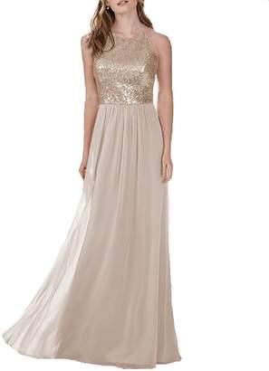 Annadress Bridesmaid Dresses Long Prom Dresses Sequins Homecoming Dresses