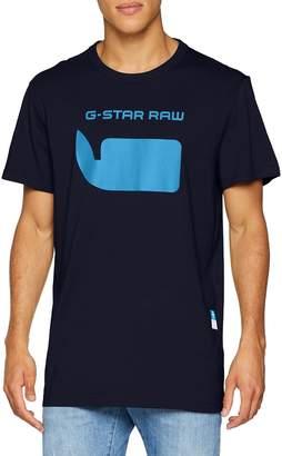 G Star Men's Logo Short Sleeve Jersey T-Shirt