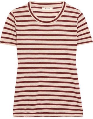 Madewell Metallic Striped Jersey T-shirt - Red