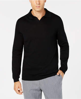 Tasso Elba Men Open-Collar Supima Cotton Polo