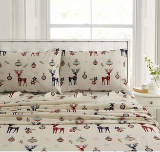 Tribeca Living Heavyweight Flannel Extra Deep Pocket Queen Sheet Set Bedding