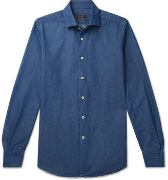 Incotex Fellini Slim-Fit Cotton-Chambray Shirt