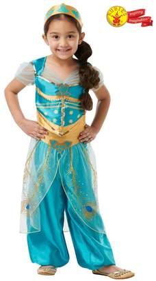 Rubie's Costume Co Girls Disney Aladdin Movie Princess Jasmine Fancy Dress Costume - Green