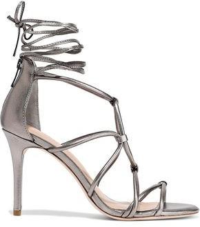 Halston Brielle Lace-up Leather Sandals