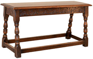 One Kings Lane Vintage Late-19th-C. Oak Bench