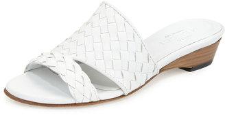 Sesto Meucci Gabri Woven Leather Slide Sandal $195 thestylecure.com