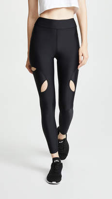 Cushnie High Waisted Leggings with Knee Cutouts