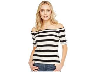 Splendid Seaboard Stripe Off Shoulder Top Women's Clothing
