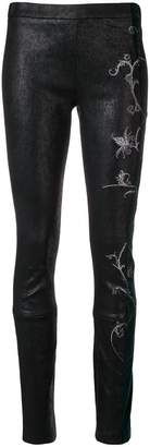 Haider Ackermann embroidered panel leggings