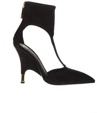 Giuseppe Zanotti Keira Black Suede Ankle Boots