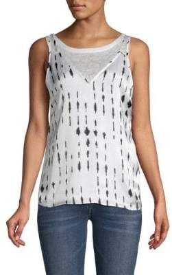 Kenneth Cole Inkwell Double-Layered Tank Top