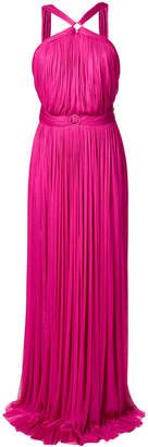 Maria Lucia Hohan belted pleated gown