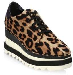 Stella McCartney Leopard Platform Oxfords