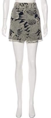 Gryphon Printed Mini Skirt