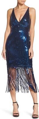 Dress the Population Frankie Plunge Midi Dress