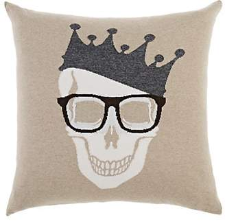 Arabella Rani Crowned-Skull Cashmere-Blend Pillow