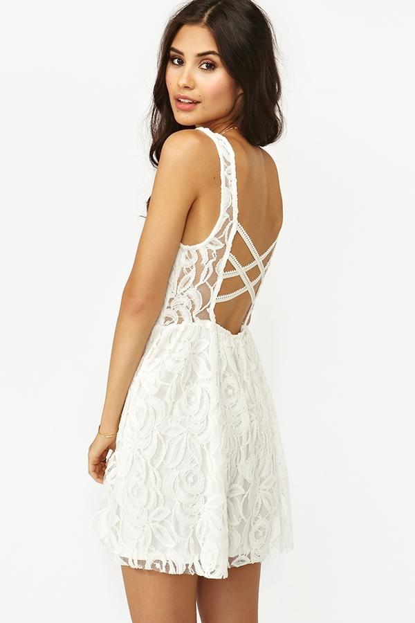 Nasty Gal Layla Lace Dress - White