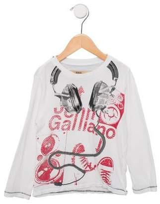 John Galliano Boys' Graphic Long Sleeve Shirt