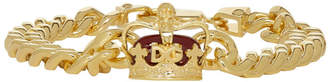 Dolce & Gabbana Gold Crown Chain Bracelet