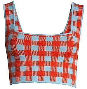 STAUD Women's Taro Gingham Crop Top