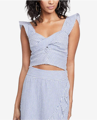 Rachel Roy Esta Twisted Cotton Crop Top, Created for Macy's
