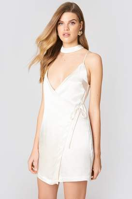 Endless Rose Satin Mini Dress Oyster
