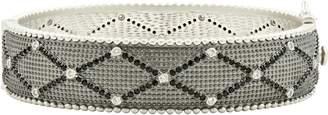 Freida Rothman Industrial Finish Textured Crystal Bracelet