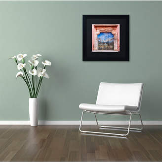 Trademark Global Michael Blanchette Photography 'Old Painted Door' Matted Framed Art