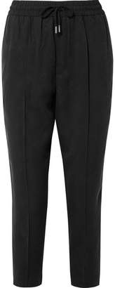 ATM Anthony Thomas Melillo Cropped Twill Tapered Pants - Black