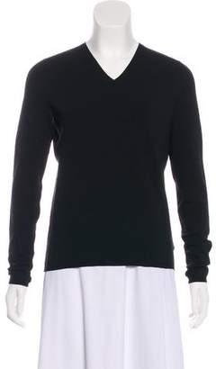 Gucci V-Neck Silk-Blend Sweater