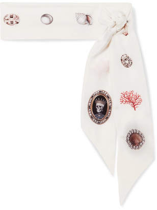 Alexander McQueen Lost At Sea Printed Silk-chiffon Scarf - Ivory